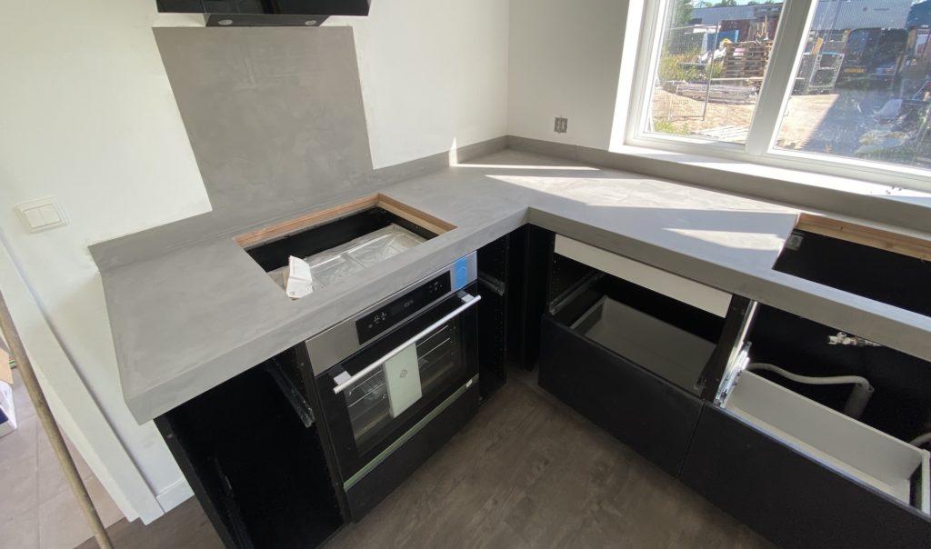 keukenblad beton look grijs